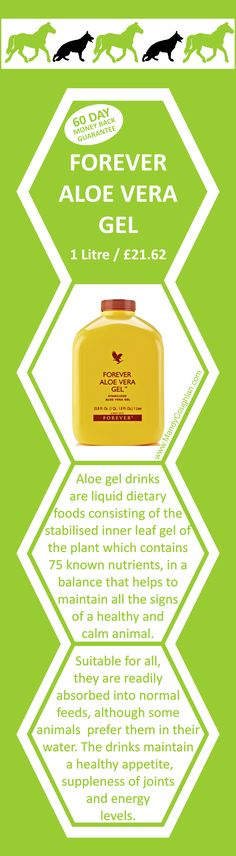 Aloe vera gel for animals.  For our whole range of animal care products visit :http://www.be-forever.de/aloevera-wellness-shop/
