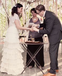 This couple created their own unity ceremony by making their favorite cocktail, an Old Fashion, together. Each part of the process signified...
