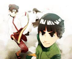 Tenten, Neji and Rock Lee - Team 9 Anime Naruto, Kakashi Naruto, Manga Anime, Naruto Teams, Naruto Art, Naruto Shippuden, Boruto, Naruhina, Neji And Tenten