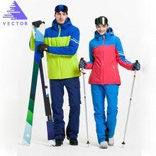 US $114.06 VECTOR Brand Men Women Ski Suits Waterproof Warm Skiing Snowboarding Jackets + Pants Professional Winter Snow Clothing Set. Aliexpress product