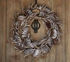 Winter Woods Wreath #potterybarn    I like this and hope to get it AFTER Christmas on sale because it's $99 right now!