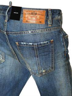 """DSQUARED - """"LINDA""""做旧纯棉丹宁牛仔裤 - LUISAVIAROMA - 奢侈品购物全球配送 - 佛罗伦萨"""