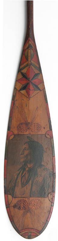 Paddle Making (and other canoe stuff): Eldred Auctioneer's Folk Art Paddle