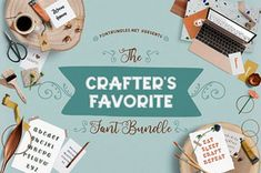 The Crafter's Favorite Font Bundle is filled with cut-friendly fonts. Including 26 fonts across 15 font families, this fantastic bundle is off!