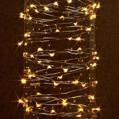 gerson 38626 30 light 10 silver wire warm white battery operated outdoor led micro miniature christmas light string set with timer