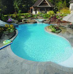 Gib-San Pools - Freeform family pool, via Flickr.