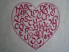 A MON AMI PIERRE Alphabet Coeur Rouge