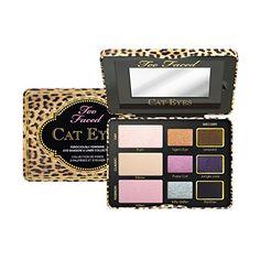 Too Faced - Cat Eyes Ferociously Feminine Eye Shadow & Liner Collection http://www.amazon.com/gp/product/B00L8D8YZG/ref=as_li_tl?ie=UTF8&camp=1789&creative=390957&creativeASIN=B00L8D8YZG&linkCode=as2&tag=httpwwwpin040-20&linkId=UQYJB4ZU6L65KZQL Disclaimer: affiliate link