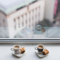 Coffee time by the window