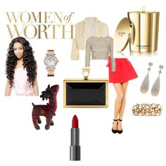 Red hot skirt with bling top ,white shrug,black clutchbag and shoes completes the look. Womens Worth, Polyvore, Fashion, Moda, Fashion Styles, Fashion Illustrations