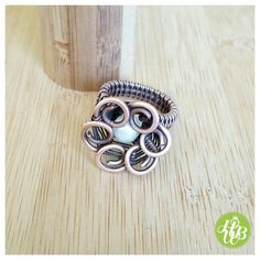 wire wrapped flower ring/ring flower by FromRONIKwithLove on Etsy