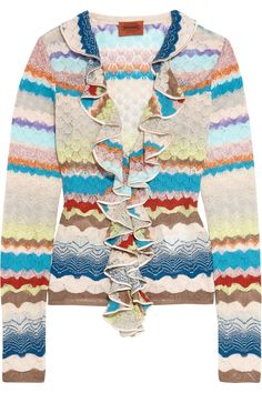 Shop on-sale Missoni Ruffled crochet-knit wool-blend cardigan. Browse other discount designer Knitwear & more on The Most Fashionable Fashion Outlet, THE OUTNET.COM