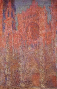 Oscar-Claude Monet (French 1840-1926) [Impressionism] Rouen Cathedral, Facade 1, 1892-1894. Oil on canvas, 100.4 × 65.4 cm. Pola Museum of Art, Hakone, Japan.