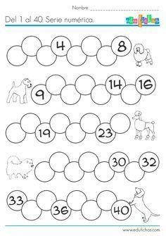 Ejercicio De Serie Numerica Del 1 Al 40 Ejercicio De Numeros Para