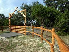 cheap fences that suit a log cabin - Google Search