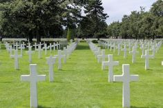 Headstones at the American Cemetery Omaha Beach