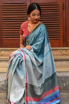 Isolated Water Saree from FashionMarket.lk