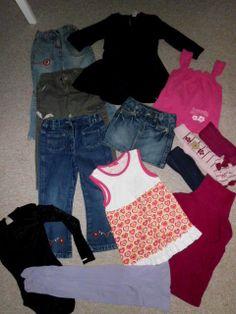 Mädchenkleidung   Größe___104 ________ 14 Teile