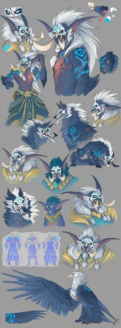 Warcraft_shaman_concepts by TheNightmareDragon.deviantart.com on @deviantART