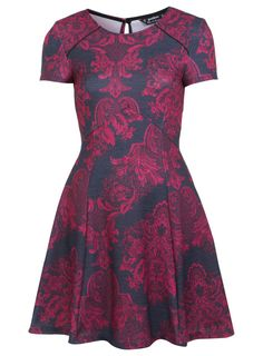 Miss Selfridge Petites Tapestry Paisley Dress Photograph--sewing inspiration