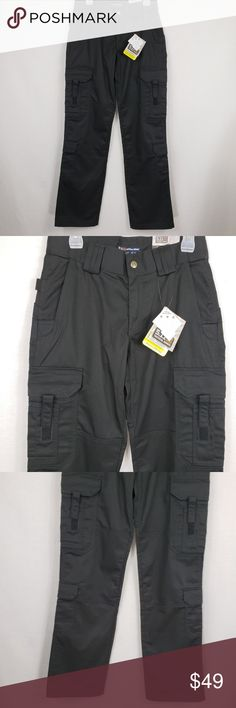 """5.11 Tactical Black Womens EMS Pants 6 Long 5.11 Tactical Black EMS Cargo Duty Pants Women's 6 Long Inseam 64301. New with Tags Measurements {Taken with clothing lying flat} Waist: 15"""",Rise: 8.5"""", Inseam: 34"""". 5.11 Tactical Pants"""