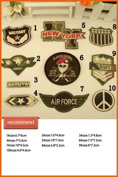 Military Patch Army patch Embroidered patch Iron On Patches Sew on Patches Iron On Applique