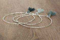 Stack Delicate bracelets pure liquid silver shiny by Bloomarine