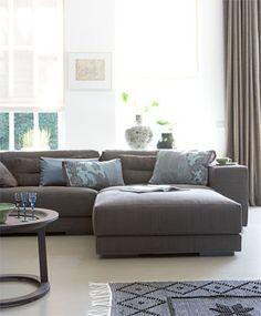 Hoekbank hugg 60171834 ca 1700 euro voor deze bank in alle opstellingen mogelijk dus ook - Plaid voor sofa met hoek ...