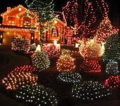 christmas lights pictures on houses - Google Search