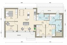 Small House Design, Bungalow, House Plans, Sweet Home, Floor Plans, Layout, Cottage, Flooring, How To Plan