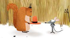WINDY DAY Un divertido corto de Jan Pinkava, el director de Ratatouille, sobre las aventuras y desventuras de un ratón y un sombrero en un día de viento feroz.