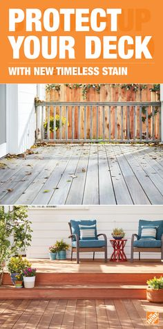 Renew your deck with a stain that will look great season after season for years to come. Timeless Deck Stain uses advanced technology to deliver rich, durable color that lasts. It's from PPG, a brand trusted by pros for over 100 years. Only at The Home Depot.