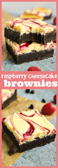 Raspberry Cheesecake Brownies – Fudgy brownies are taken up a few notches with the addition of raspberry swirl cheesecake.#recipe #chocolate #raspberry #cheesecake #brownies #bars #dessert