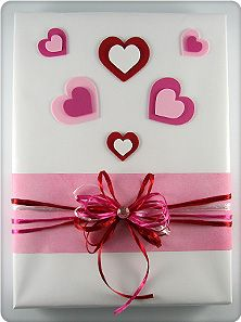 Gift Decorating - Step-by-Step Instructions to Create the Be Mine Valentine's Day Gift Design
