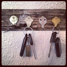 "Never lose your keys again! Nothing says ""PUT THEM HERE"" like hooks that are actual keys."