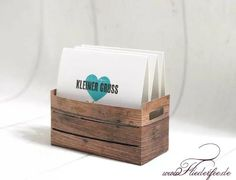 Kleine Kiste mit dem Designerpapier Holzoptik  Stampin'UP