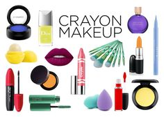 """""""Crayon-Inspired Makeup"""" by taylorgarcia-iii ❤ liked on Polyvore featuring beauty, MAC Cosmetics, Clinique, Eos, Revlon, Stila, Forever 21, Laura Mercier, Lime Crime and Estée Lauder"""