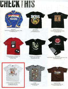 Official Junk Food Clothing Blog - Junk Food Tees - Retro and Vintage Tees: NBA TEE FEATURE IN SLAM MAGAZINE