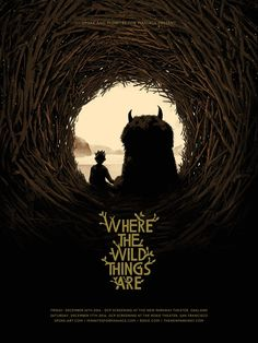 Where the Wild Things Are Movie Poster Screen Print by Matt Taylor