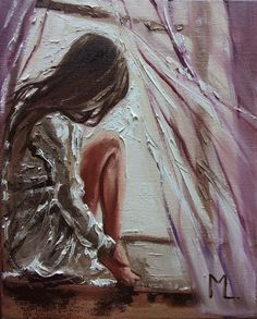 """Buy """" HAVE A NICE DAY :) """" WINDOW original painting ROOM palette knife GIFT, Oil painting by Monika Luniak on Artfinder. Discover thousands of other original paintings, prints, sculptures and photography from independent artists. Art Sketches, Art Drawings, Portrait Art, Oil Painting On Canvas, Lovers Art, Female Art, Amazing Art, Cool Art, Art Photography"""