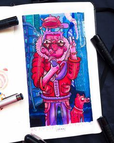 Doodle Art Drawing, Art Drawings, Graffiti Doodles, Copic Art, Street Art Graffiti, Cartoon Wallpaper, Art Inspo, Pens, Abstract Art