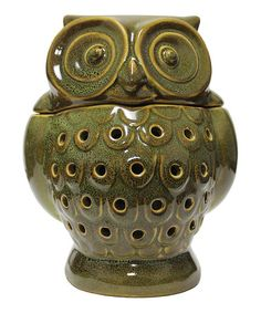 Look what I found on #zulily! Ceramic Owl Wax and Oil Warmer #zulilyfinds