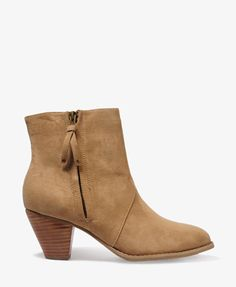 Tasseled Zip Booties | FOREVER21 - 2000047476