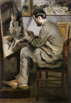 Portrait of Frédéric Bazille painting, 1867 by Pierre-Auguste Renoir (French 1841–1919)