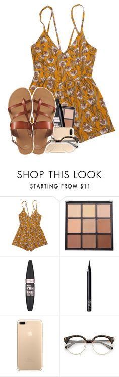 """August weather"" by cicisquared ❤ liked on Polyvore featuring Morphe, Maybelline, NARS Cosmetics and Gap"