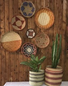 Excited to share this item from my #etsy shop: 7 African Wall Baskets / 7 Rwanda Baskets / Wall Baskets / Wall Hangings /Wall Decoration / Rwanda baskets set