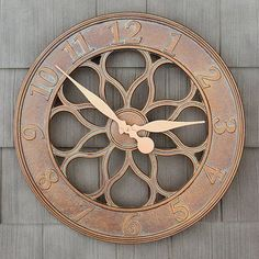 """90 Wall Clocks Large 18"""" Outdoor Indoor Medallion Style Rust Free Design New Clock in Home & Garden,Home Décor,Clocks 