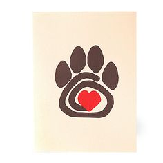 "Pet sympathy card: ""Your friend has gone ahead and nothing is the same; Leaving paw prints on your heart that always will remain""."