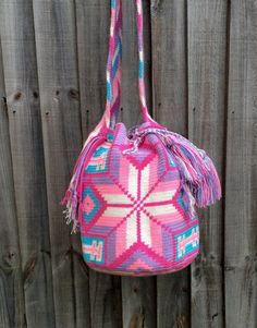 Authentic Colombian Wayuu Mochila traditional por peaceandluvsm