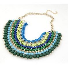 Green Bib Necklace | #beautiful #cocktail #necklace #fashion #accessories #jewelry #2014